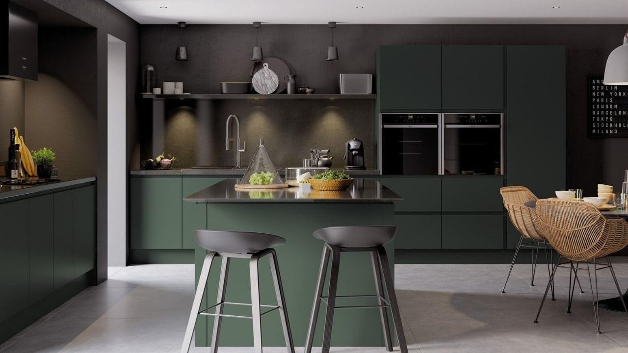 Classic Interiors Kitchen in Dark Green