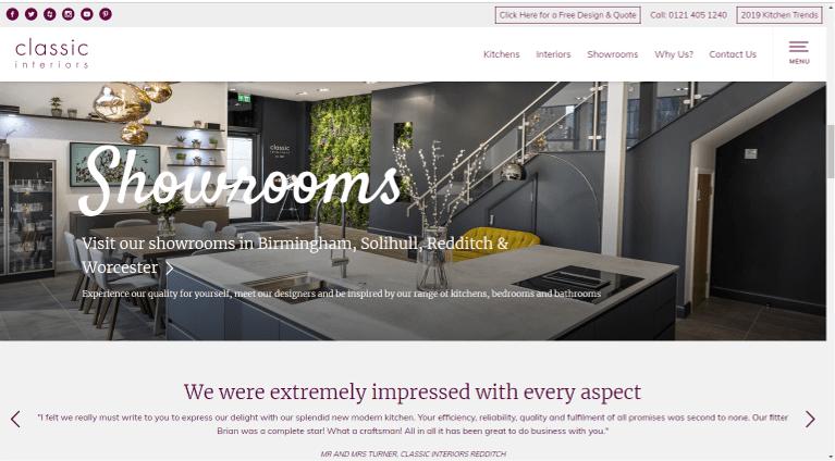 Classic interiors Website