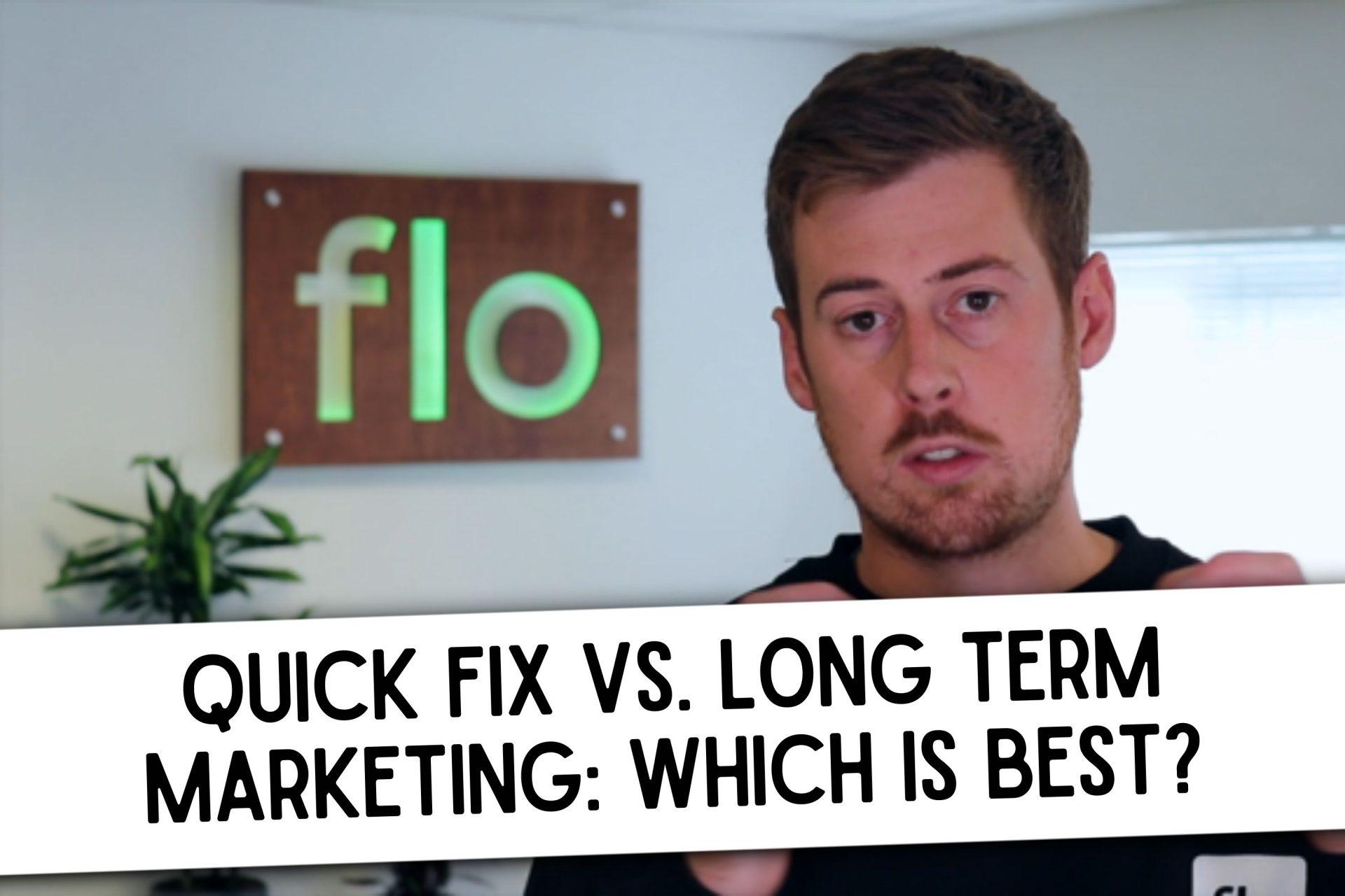 Quick fix vs long term marketing kitchen business